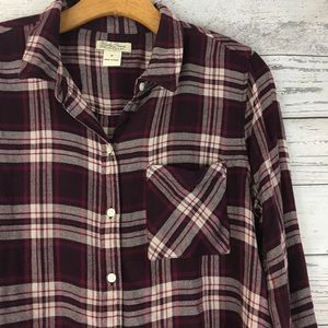 Lucky Brand plaid long sleeve button down top